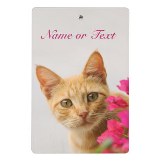 Cute Ginger Cat Kitten Watching Photo Personalized Mini Clipboard