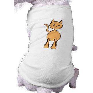 Cute Ginger Cat. Orange Cat Cartoon. Pet T Shirt