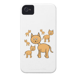 Cute Ginger Cats.  Cat Cartoon. iPhone 4 Case