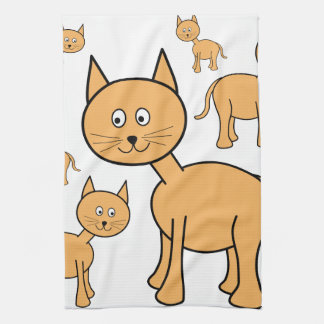 Cute Ginger Cats.  Cat Cartoon. Tea Towel