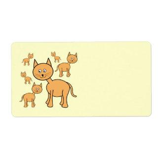 Cute Ginger Cats. Orange Cat Cartoon.