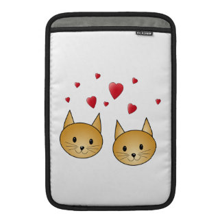 Cute Ginger cats. With Red Love Hearts. Sleeve For MacBook Air