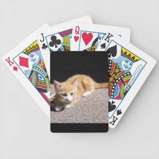 Cute Ginger Kitten Bicycle Playing Cards
