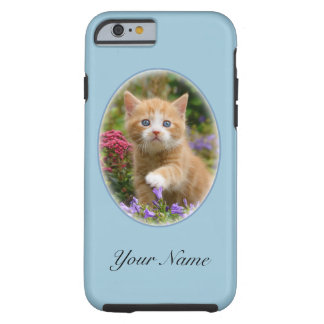 Cute ginger kitten in a garden tough iPhone 6 case
