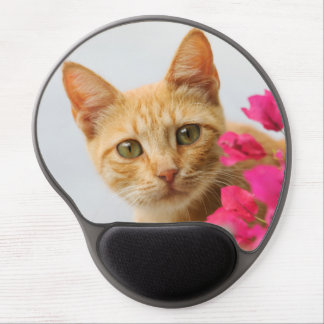 Cute Ginger Kitten Watching You Gel Mouse Pad