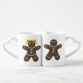 Cute Gingerbread Boy Gingerbread Girl Christmas Couple Mugs
