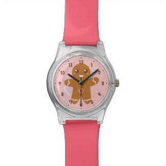 Cute Gingerbread Christmas Kids Personalized Watch