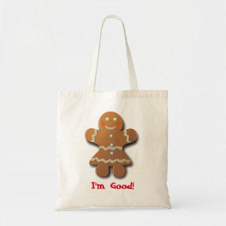 Cute Gingerbread Cookie Budget Tote Bag
