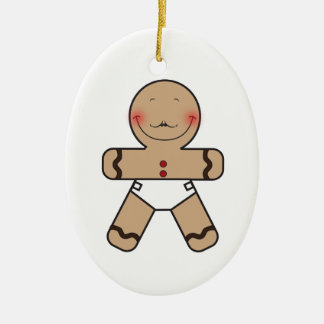 Cute Gingerbread Cookie Cartoon Christmas Ornament