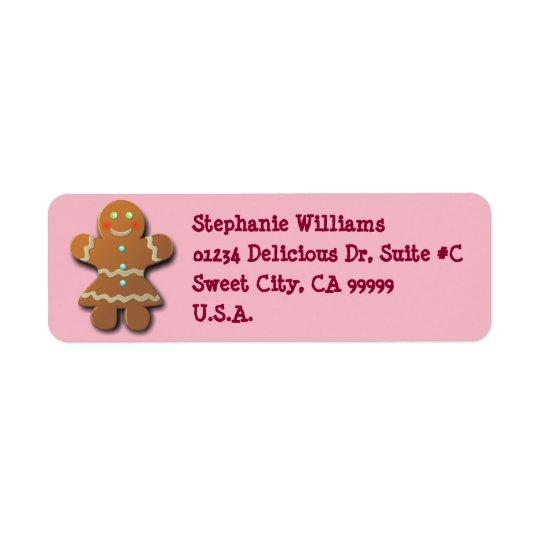 Cute Gingerbread Cookie Return Address Label