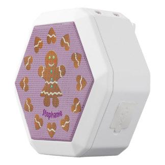 Cute Gingerbread Cookie White Bluetooth Speaker