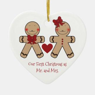 Cute Gingerbread Cookies Cartoon Christmas Ornament