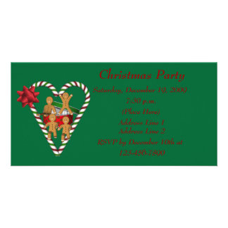 Cute Gingerbread Cookies Christmas Holiday Photo Cards