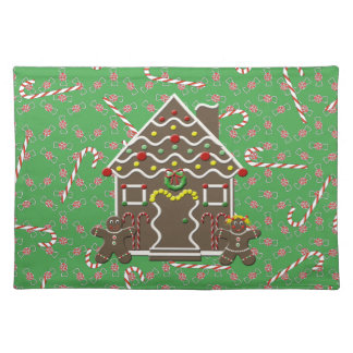 Cute  Gingerbread House Christmas Placemat
