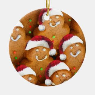 Cute Gingerbread Man Christmas Ornament