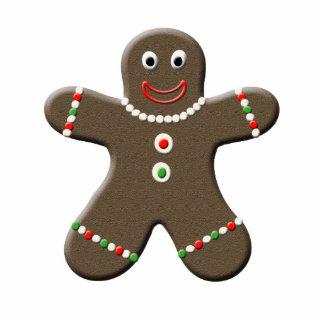 Cute Gingerbread Man Christmas Sculpture Cutout Standing Photo Sculpture