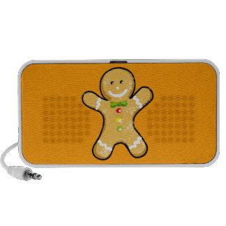 Cute gingerbread man cookie notebook speakers