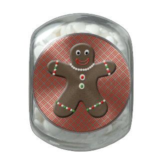 Cute Gingerbread Man Festive Christmas Treats Glass Jars