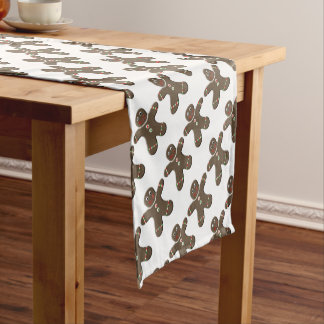 Cute Gingerbread Man Holiday Table Runner