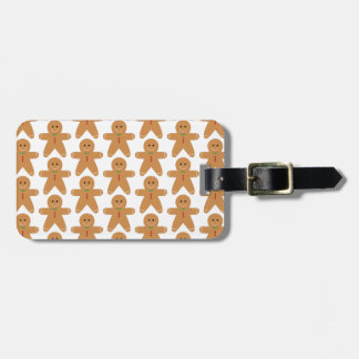 Cute Gingerbread Man Pattern Luggage Tag