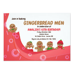 Gingerbread invitations announcements zazzle cute gingerbread men invitation filmwisefo Images