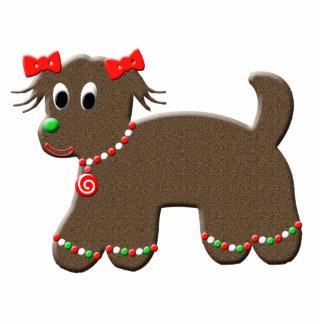 Cute Gingerbread Puppy Dog Christmas Photo Cutouts
