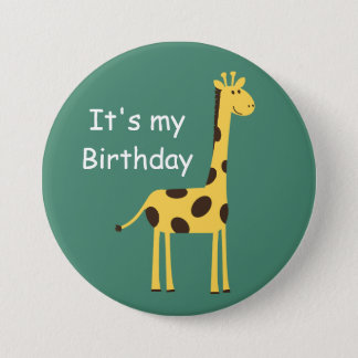 Cute Giraffe 7.5 Cm Round Badge