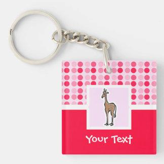 Cute Giraffe Acrylic Keychains