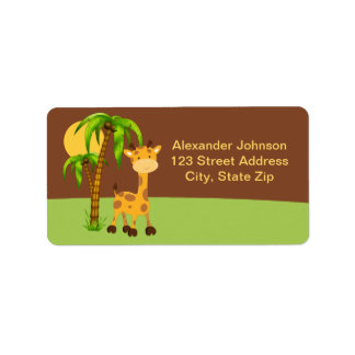 Cute Giraffe Address Label