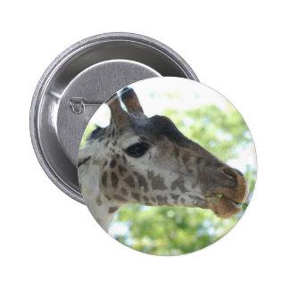 Cute Giraffe 6 Cm Round Badge