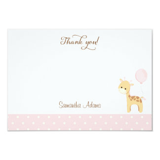 Cute Giraffe Birthday Thank You Card 9 Cm X 13 Cm Invitation Card