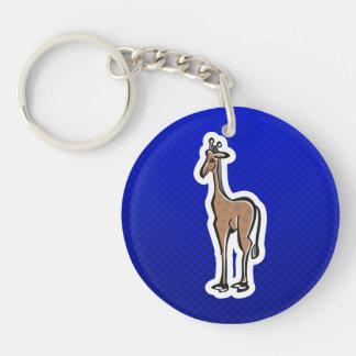 Cute Giraffe; Blue Acrylic Keychains