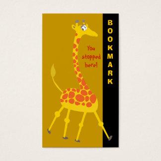 Cute Giraffe Bookmark Business Card