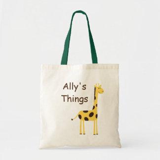 Cute Giraffe Budget Tote Bag