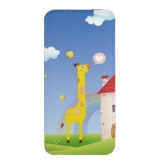 Cute Giraffe Butterflies with Rainbow Castle