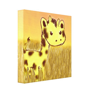 Cute Giraffe Canvas Print