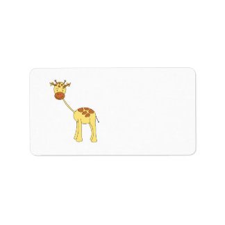 Cute Giraffe. Cartoon. Address Label
