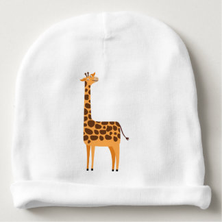 Cute Giraffe Cartoon Animal Baby Beanie