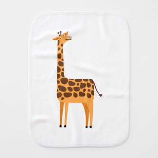 Cute Giraffe Cartoon Animal Burp Cloth