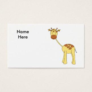 Cute Giraffe. Cartoon. Business Card