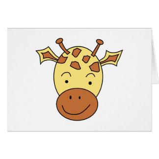 Cute Giraffe Cartoon. Card