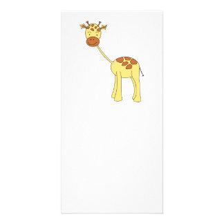 Cute Giraffe. Cartoon. Custom Photo Card