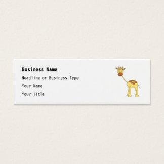 Cute Giraffe. Cartoon. Mini Business Card