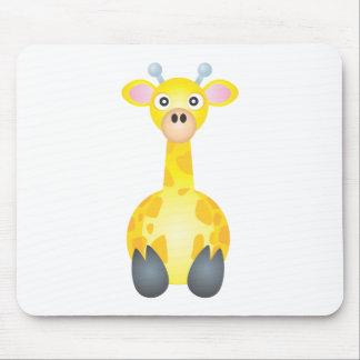 Cute Giraffe Cartoon Mousepads