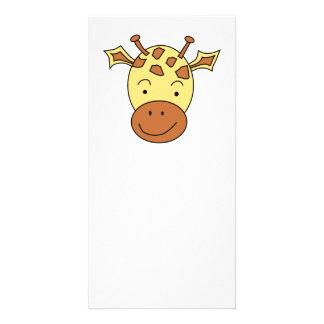 Cute Giraffe Cartoon Customized Photo Card