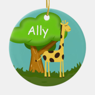Cute Giraffe Christmas Ornament