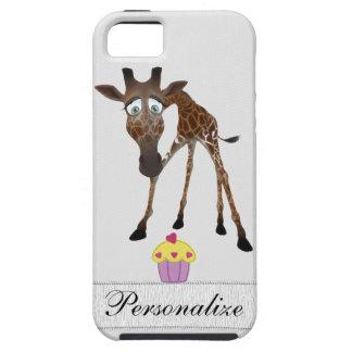 Cute Giraffe & Cupcake Personalized iPhone 5 iPhone 5 Cover