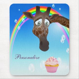 Cute Giraffe, Cupcake & Rainbow Mouse Pads