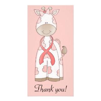 Cute Giraffe Customized Photo Card
