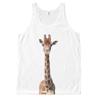 Cute giraffe face All-Over print tank top